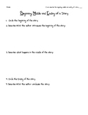 Author's Craft: Describe the  Beginning, Middle and End of a story