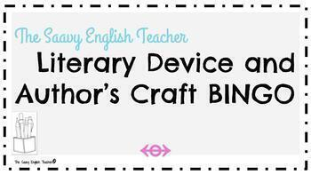 Author's Craft and Literary Devices BINGO Card!