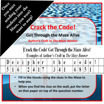 Author's Craft in The Maze Runner Kinesthetic Maze