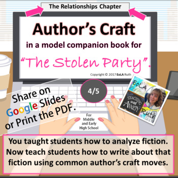 """Author's Craft in """"The Stolen Party"""" Model Companion Book 4/5"""