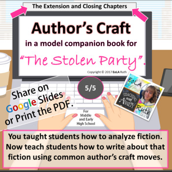 """Author's Craft in """"The Stolen Party"""" Model Companion Book 5/5"""
