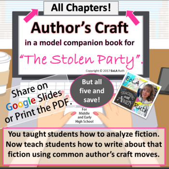 """Author's Craft in """"The Stolen Party"""" Model Companion Book (Bundle)"""