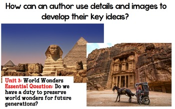 Author's Details in World's Wonders Worn Down from Scholastic CodeX Unit 3