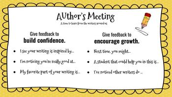 Author's Meeting Feedback Guidelines