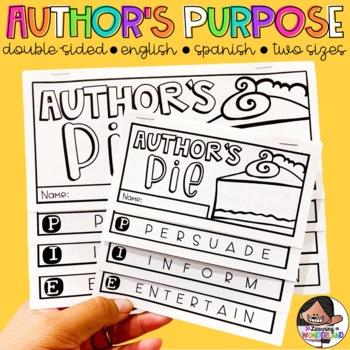 Author's PIE {Double Sided Author's Purpose Flipbook}