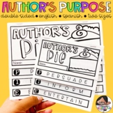 Author's PIE | Double Sided Author's Purpose Flipbook- Two Sizes Included!