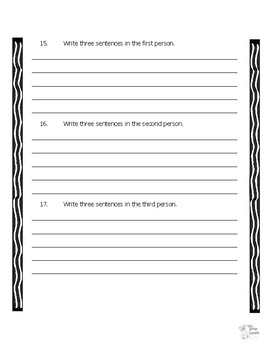 Author's Perspective Explanation, Worksheet, and Posters/Anchor Charts