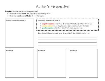 Author's Perspective Organizer
