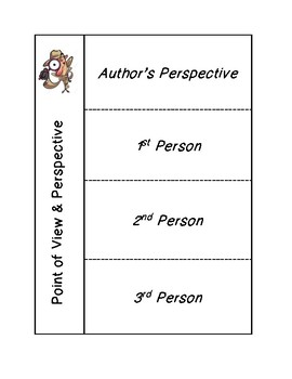 Author's Perspective & Point of View Interactive Notebook