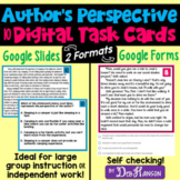 Author's Perspective Task Cards Using Google Forms and Sli