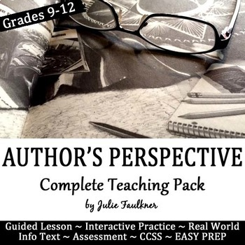 Author's Perspective, Viewpoint: Complete Teaching Pack, Lesson, Task Cards