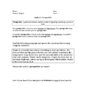 Author's Perspective Worksheet