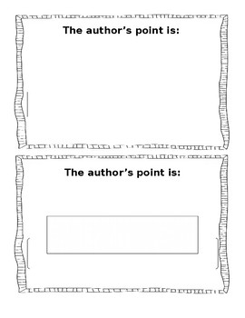 Author's Point- Half Sheet Graphic Organizer