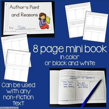 Author's Point and Reasons Interactive Mini Book {RI.2.8}