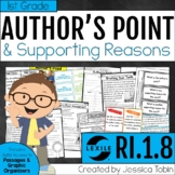 Author's Point and Reasons 1st Grade RI.1.8 with Digital Learning Links - RI1.8