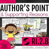 Author's Point and Reasons 2nd Grade RI.2.8 with Digital L