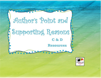 Author's Point and Supporting Reasons RI 2.8, RI 3.8, RI 4.8