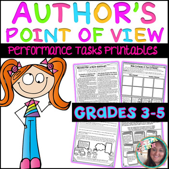 Author's Point of View (Author's Perspective) Performance Tasks PRINTABLES