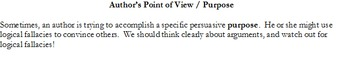 Author's Point of View / Author's Purpose