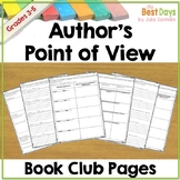 Author's Point of View Book Club Pages
