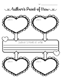 Author's Point of View Heart Valentine's Day Graphic Organizer