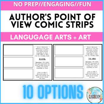Author's Point of View Mini Comic Strips! Student CHOICE!