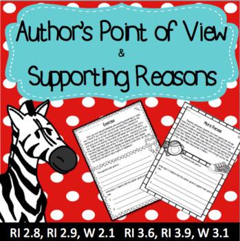 Author's Point of View - Opinion Writing RI 2.8 RI 2.9 RI 3.6 RI 3.9 W 2.1 W 3.1