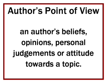 Author's Point of View Packet