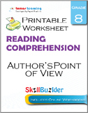 Author's Point of View Printable Worksheet, Grade 8