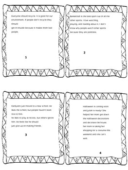 Author's Point of View Task Cards
