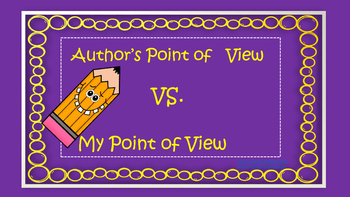 Author's Point of View vs. My Point of View