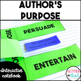 Author's Purpose - Reading Interactive Notebook