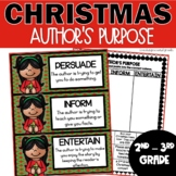 Christmas Author's Purpose Activities
