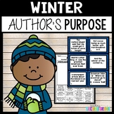 Author's Purpose Winter Worksheets | Author's Purpose Task Cards