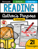 Author's Purpose Reading Passages  | Distance Learning