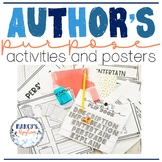 Author's Purpose for 4th & 5th Grade Activity and Posters
