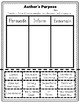 Author's Purpose Activities and Printables