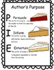 Author's Purpose Activity Pack - PIE Theme
