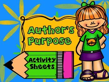 Author's Purpose Activity Sheets