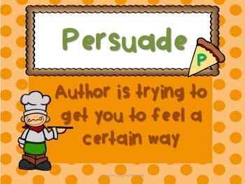 Author's Purpose Anchor Chart & Graphic Organizer