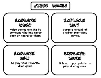 Author's Purpose Anchor Chart and Writing Activity
