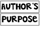 Author's Purpose Anchor Chart with PIE sort
