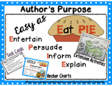 Author's Purpose Anchor Charts, Task Cards, Extension Activities