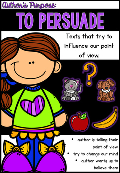 Author's Purpose Anchor Posters