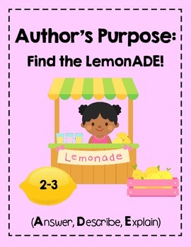 Author's Purpose: Answer, Describe, Explain