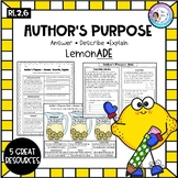 Author's Purpose Pack - Answer, Explain, Describe RI.2.6