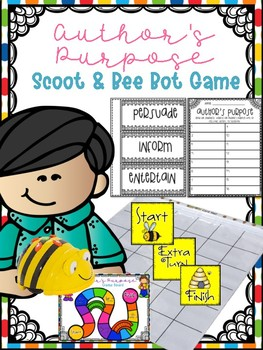Author's Purpose Scoot or Bee Bot Game