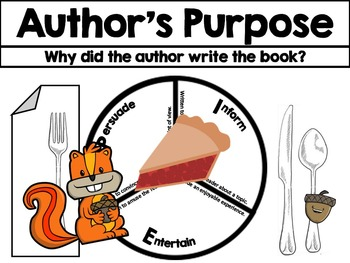 Author's Purpose Book Flyer PIE Place Setting