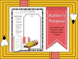 Author's Purpose Bookmark