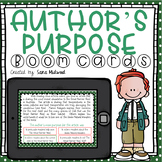 Author's Purpose Boom Cards    Distance Learning